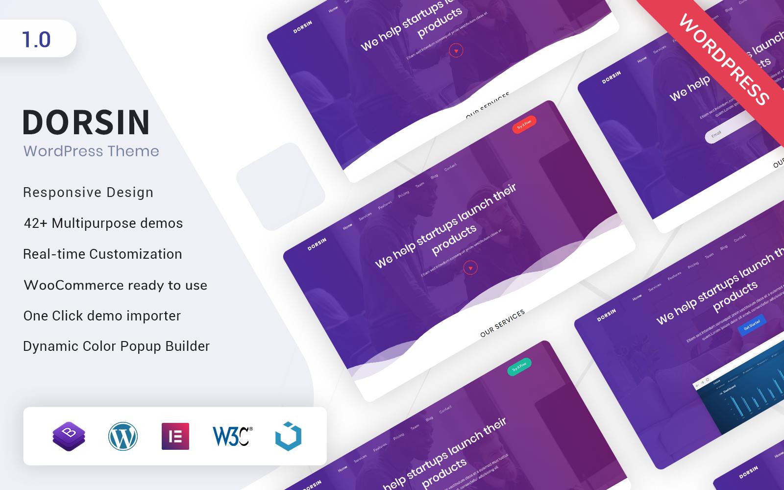 Dorsin - WordPress Landing Page Theme