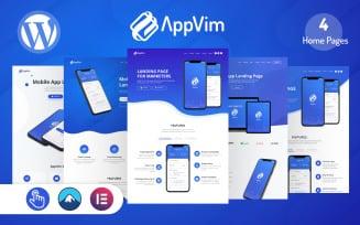 AppVim - App Landing Page WordPress Theme