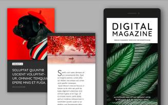 Digital Magazine Layout Template