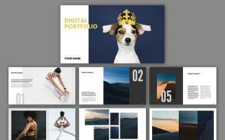 Digital Portfolio Layout Magazine Templates