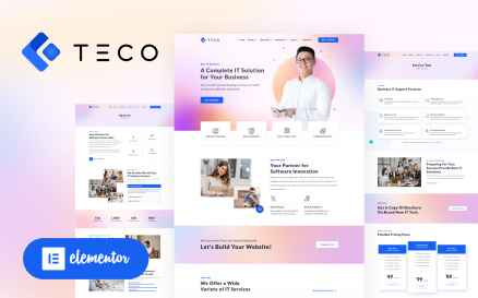 TECO - IT Solutions & Services Business Elementor WordPress Theme