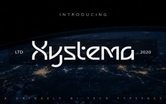 Xystema | Uniquely Hi-Tech Typeface Font