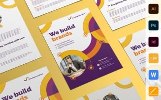Professional Branding Consultant Flyer - Corporate Identity Template