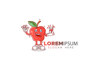 Apple Mascot Logo Template