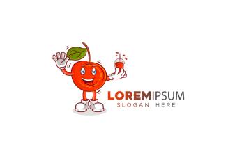 Cherry Mascot Logo Template