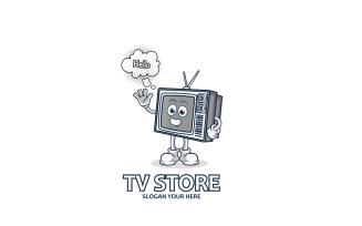TV Mascot Logo Template