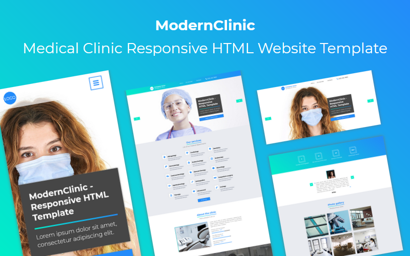 ModernClinic - Medical Clinic Responsive HTML Website Template