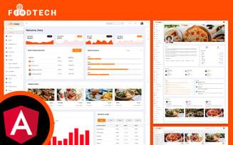 Foodtech Restaurant & Food Delivery Angular JS Admin Dashboard