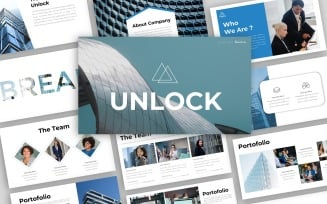Unlock - Creative Business Presentation PowerPoint template
