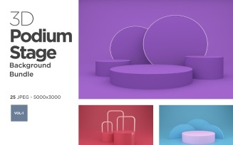 Podium & Stage Design Set Vol-1 Background