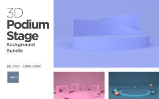 Podium & Stage Design Set Vol-2 Background