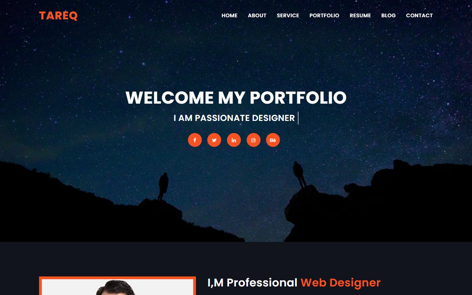 Tareq Personal Portfolio Landing Page Template