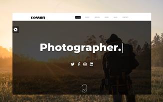 Connor - Responsive Portfolio Landing Page Template