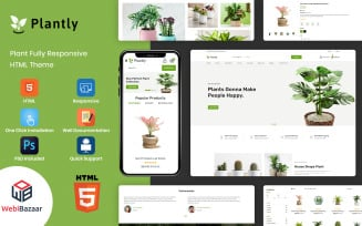 Plantly - Plants And Nursery HTML5 eCommerce Website template