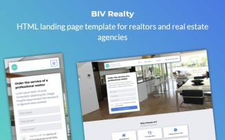 Realty - HTML Landing Page Template For Realtors