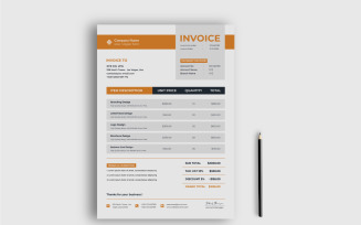 Clean Business Invoice Design Template