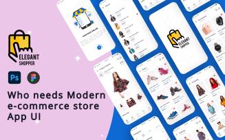 Elegant Shopper - Responsive Ecommerce, E-Cart Android UI in Figma & PSD