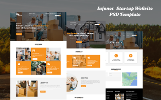 Infonet - Shipping Mover Free Website PSD Template