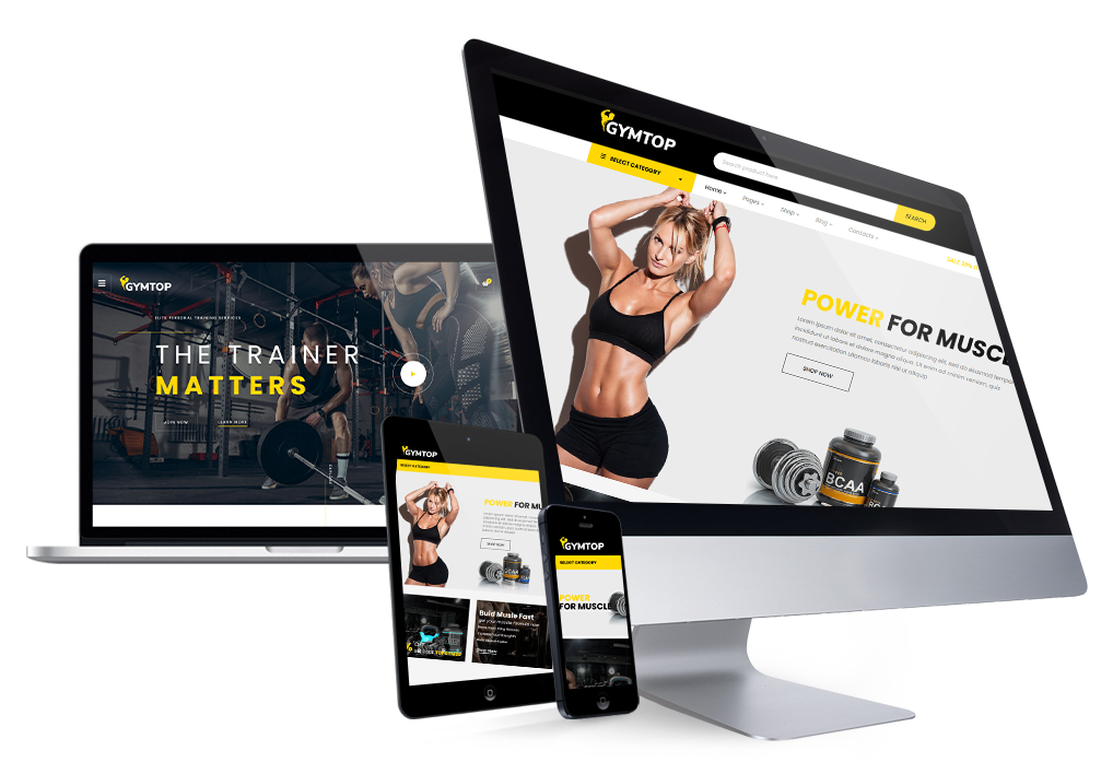Gymtop - Gym, Fitness, Yoga WooCommerce Template