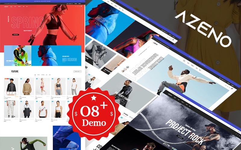Azeno - Prestashop-thema van de mode- en sportwinkel