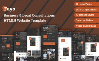 Fayo - Business & Legal Consulting Bootstrap HTML5 Website Template