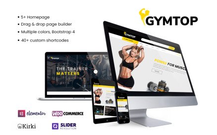 Gymtop - Gym, Fitness, Yoga WooCommerce Template WooCommerce Theme