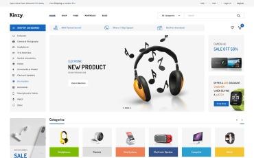 Kinzy - Electronics Store Prestashop Theme 1.7.7.x