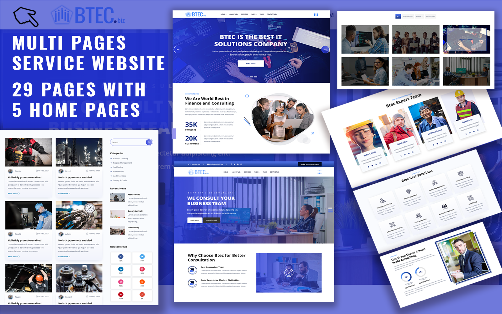 Btec - Business Services Responsive HTML5 Website Templates