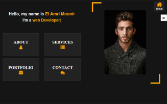 Amin Creative Personal Portfolio Website template