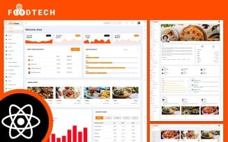 Foodtech Food Delivery & Restaurant React JS Admin Dashboard