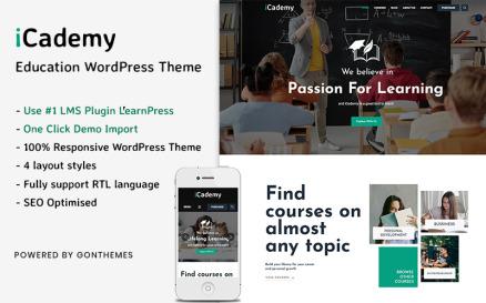 iCademy - Education WordPress Theme.