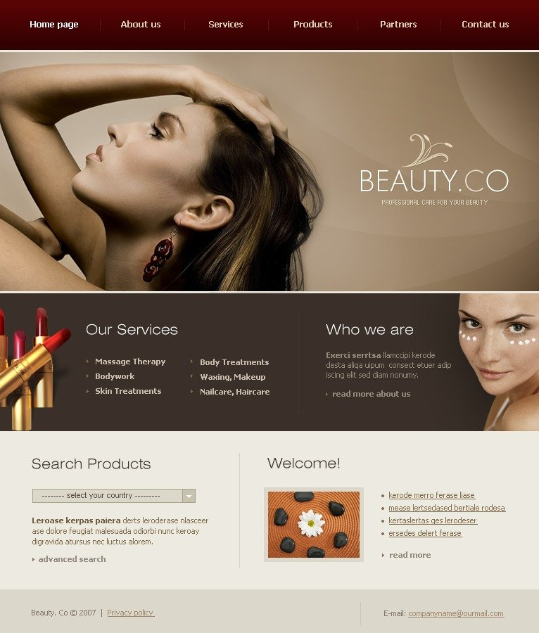 Beauty Salon Website Template 17391