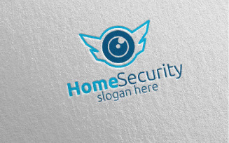 Camera CCTV Home Security Logo template