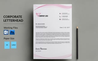 Letterhead Corporate Identity Template