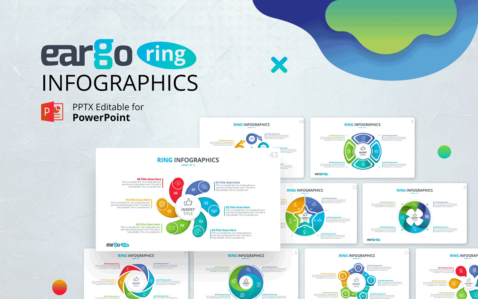 Eargo Ring – Circular Infographics PPT Template