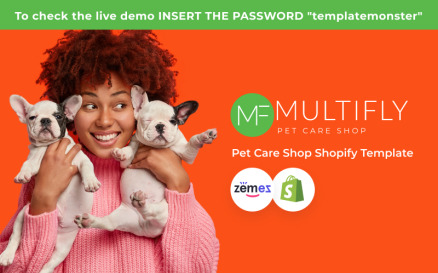 Multifly Responsive Pets Shop Shopify Theme
