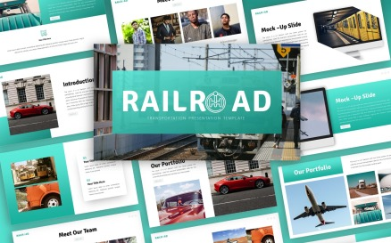 Railroad - Transportation Multipurpose PowerPoint Template