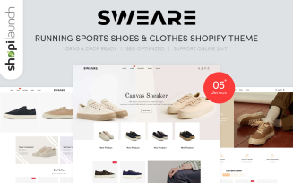 Sweare - Running Shoes, Sports Shoes & Clothes Shopify Theme