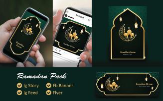 Ramadan Kareem 2021 Pack Free Social Media Template