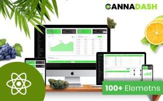 Cannadash Cannabis Weed Admin Dashboard React Template