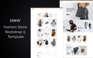 Edon - Fashion Store Bootstrap 5 Website Template