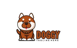 A Cute Cartoon Dog Mascot Character Logo