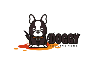 Dog Cute Front of Designs Logo