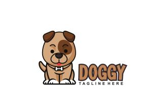 Dog Sitting Logo Design Template
