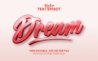 Calligraphic Style Editable Text Effect Vector