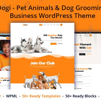 Dogi - Pet Animals & Dog Grooming Business WordPress Theme #173756
