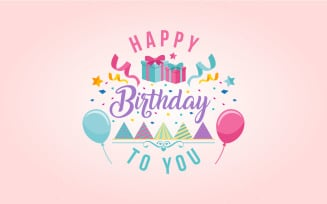Happy Birthday Wish Vector