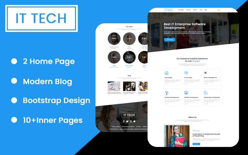 IT Tech Startup Agency Html Website template