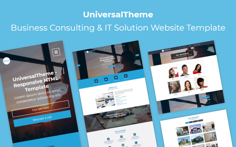 UniversalTheme - Business Consulting & IT Solution Website Template