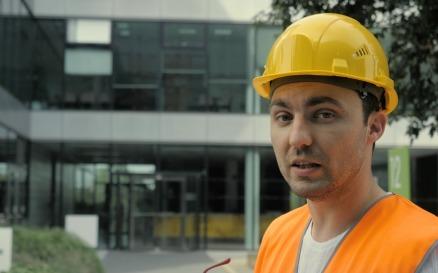 Engineer Worker Talking Presenting Something Video Stock Video